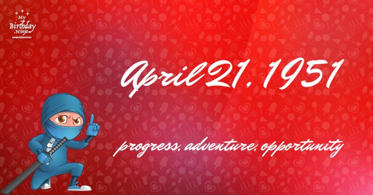 April 21, 1951 Birthday Ninja