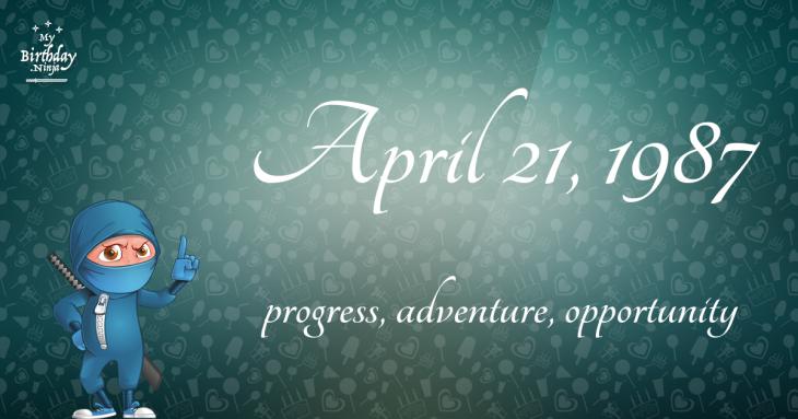 April 21, 1987 Birthday Ninja