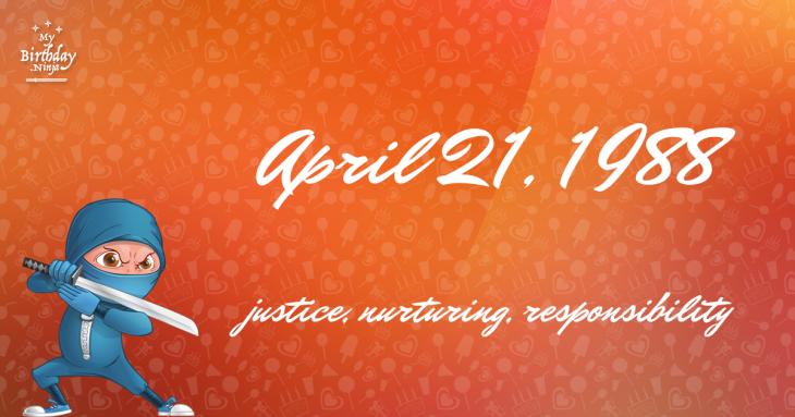 April 21, 1988 Birthday Ninja