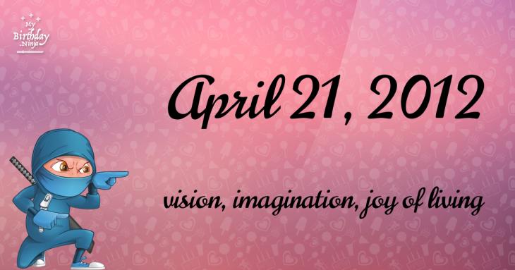 April 21, 2012 Birthday Ninja
