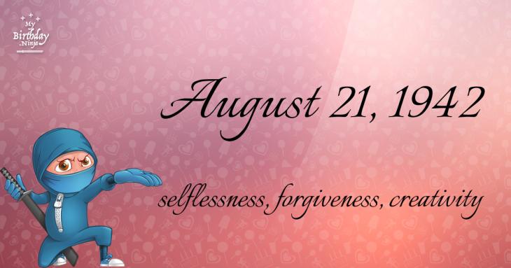 August 21, 1942 Birthday Ninja