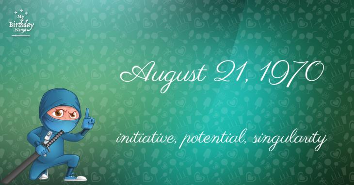 August 21, 1970 Birthday Ninja