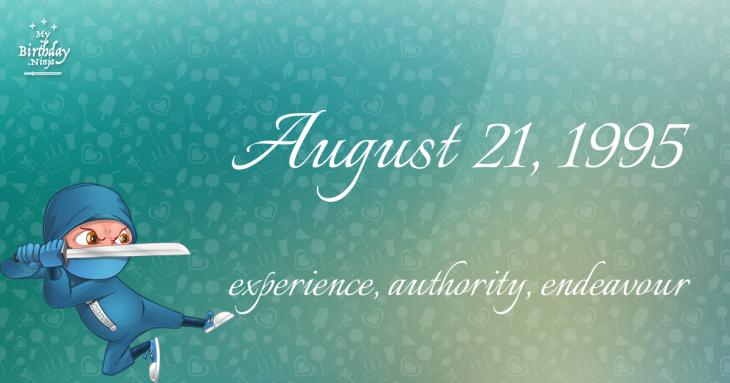 August 21, 1995 Birthday Ninja