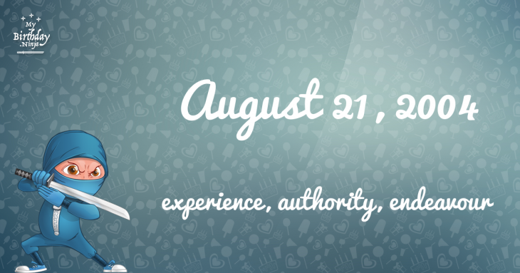 August 21, 2004 Birthday Ninja