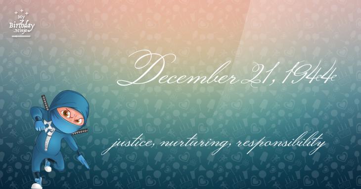 December 21, 1944 Birthday Ninja