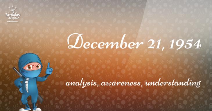 December 21, 1954 Birthday Ninja