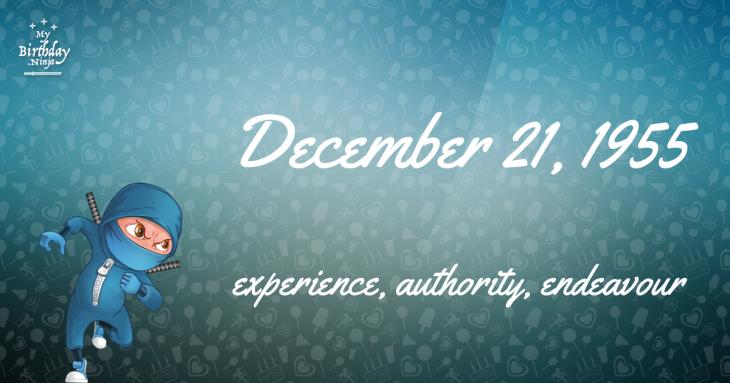 December 21, 1955 Birthday Ninja