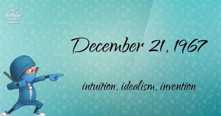 December 21, 1967 Birthday Ninja