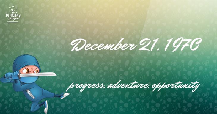 December 21, 1970 Birthday Ninja