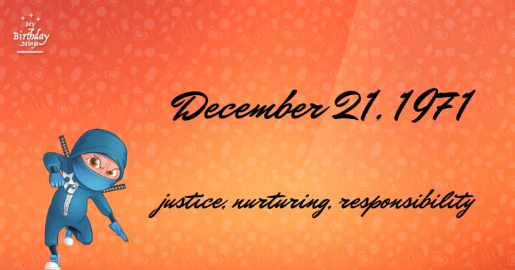 December 21, 1971 Birthday Ninja