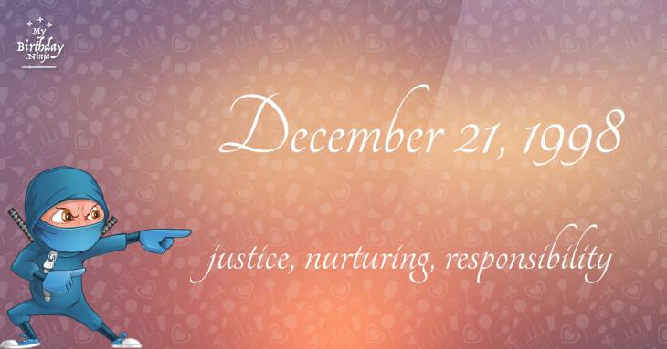 December 21, 1998 Birthday Ninja