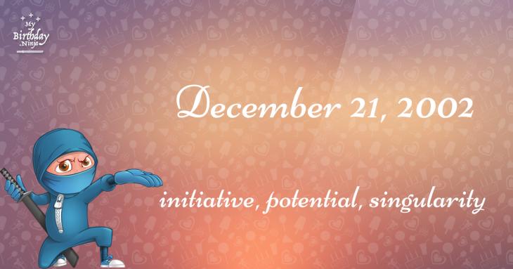 December 21, 2002 Birthday Ninja