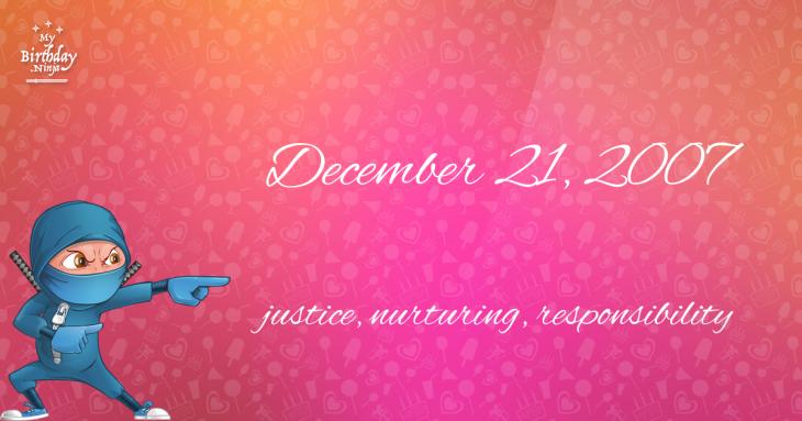 December 21, 2007 Birthday Ninja
