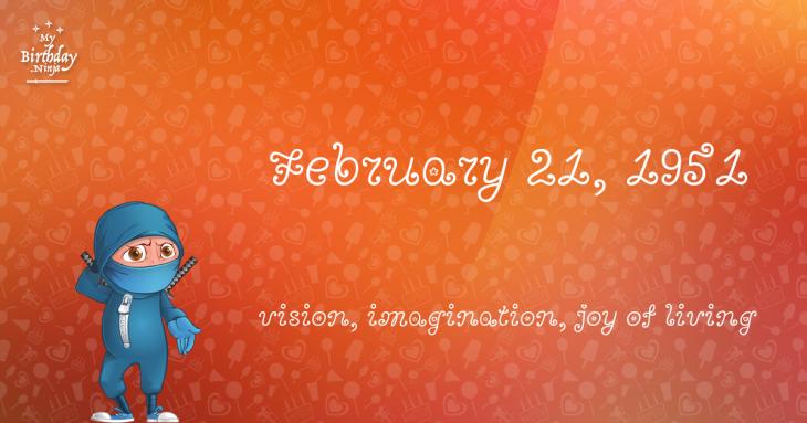 February 21, 1951 Birthday Ninja