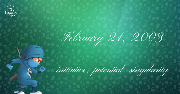 February 21, 2003 Birthday Ninja