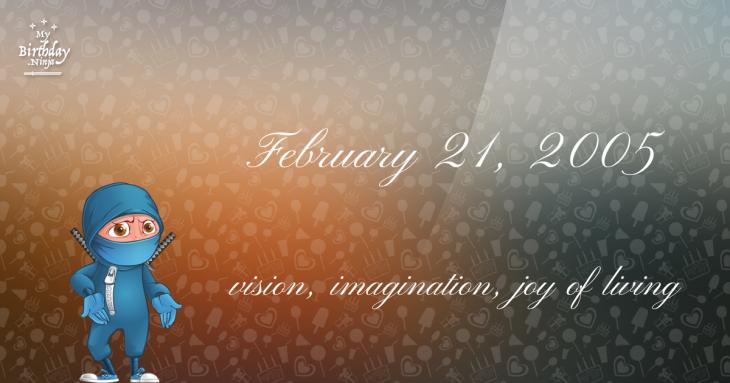 February 21, 2005 Birthday Ninja