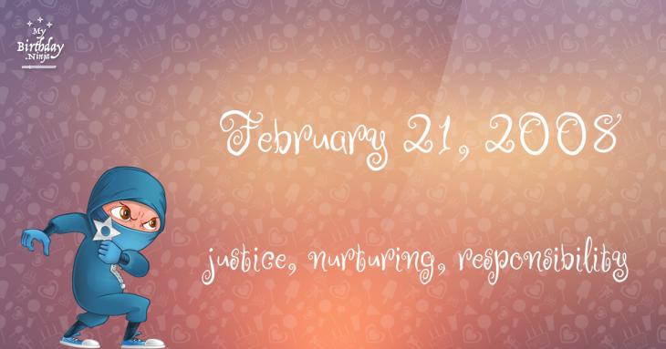 February 21, 2008 Birthday Ninja