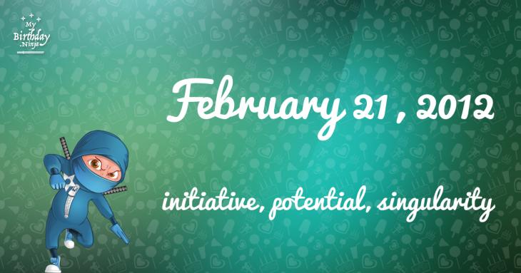 February 21, 2012 Birthday Ninja