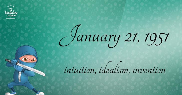 January 21, 1951 Birthday Ninja