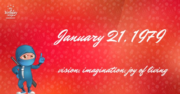January 21, 1979 Birthday Ninja