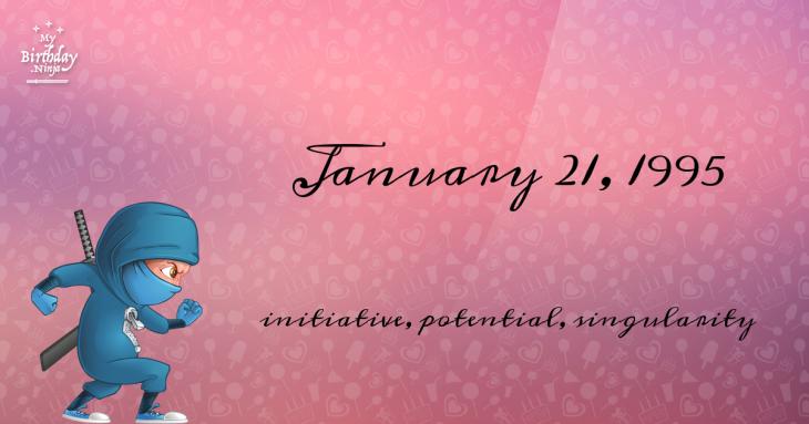January 21, 1995 Birthday Ninja