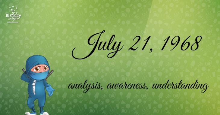 July 21, 1968 Birthday Ninja