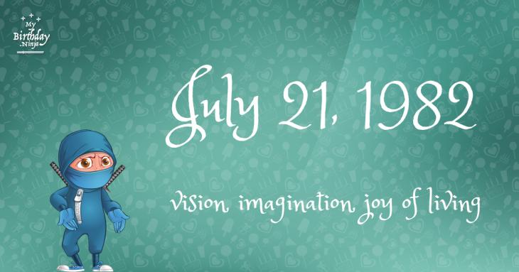 July 21, 1982 Birthday Ninja