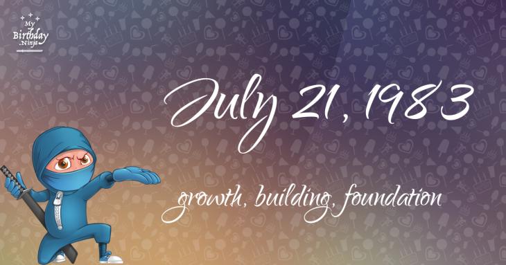July 21, 1983 Birthday Ninja