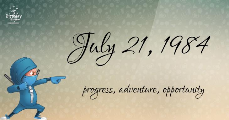 July 21, 1984 Birthday Ninja
