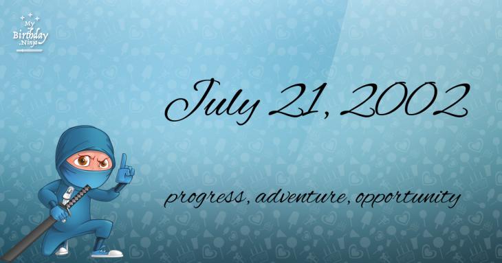 July 21, 2002 Birthday Ninja