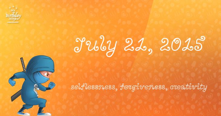 July 21, 2015 Birthday Ninja