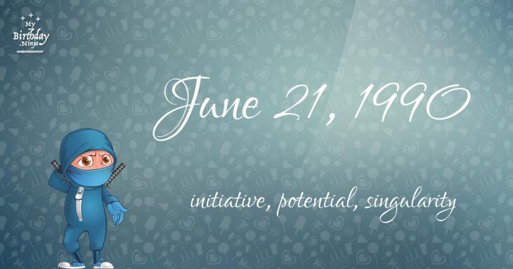 June 21, 1990 Birthday Ninja