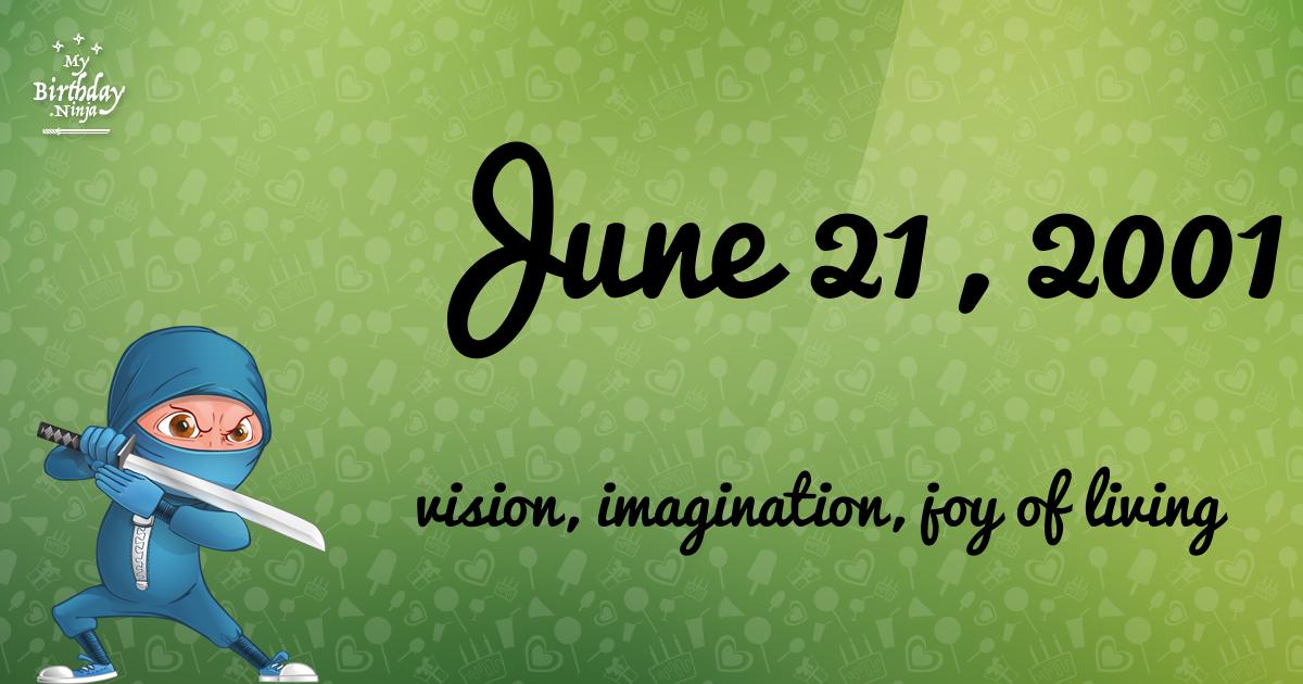 June 21, 2001 Birthday Ninja Poster