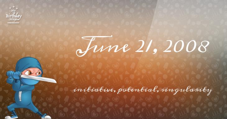 June 21, 2008 Birthday Ninja
