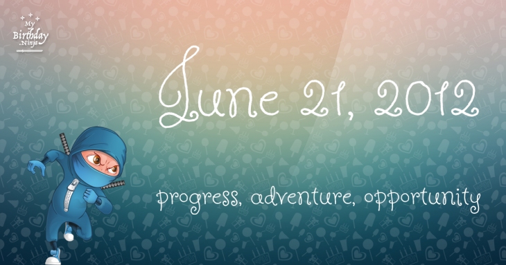 June 21, 2012 Birthday Ninja