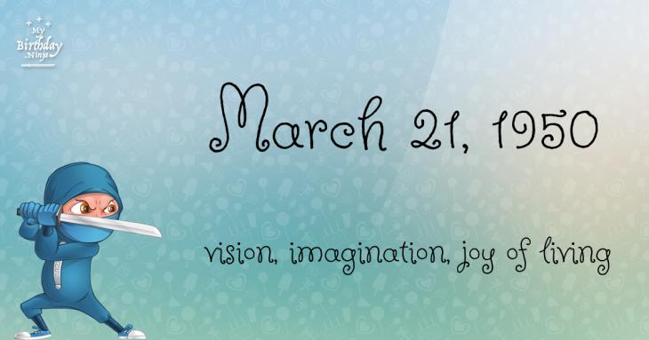 March 21, 1950 Birthday Ninja