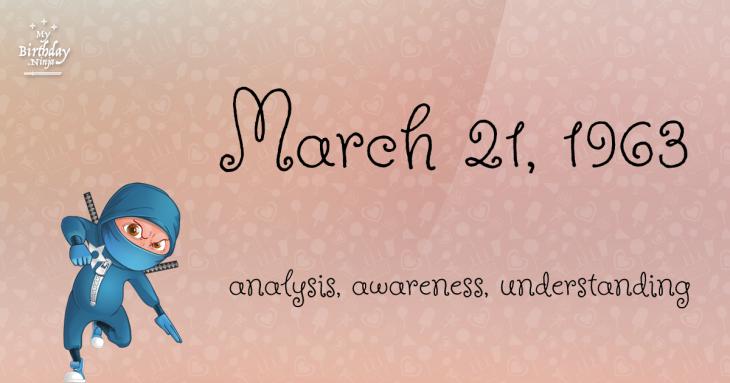 March 21, 1963 Birthday Ninja