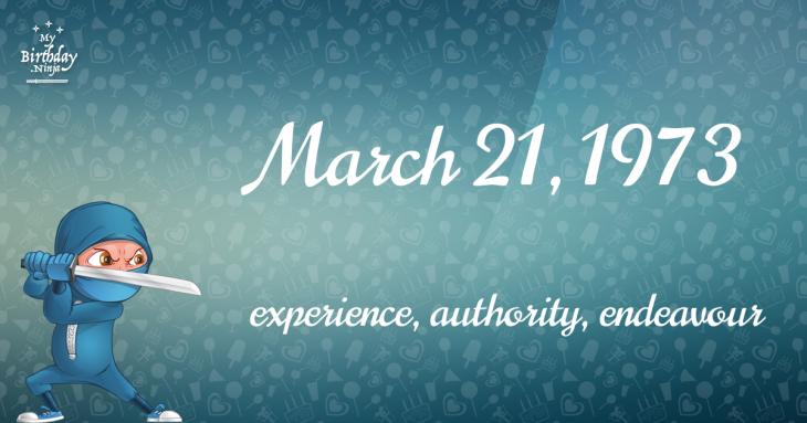 March 21, 1973 Birthday Ninja