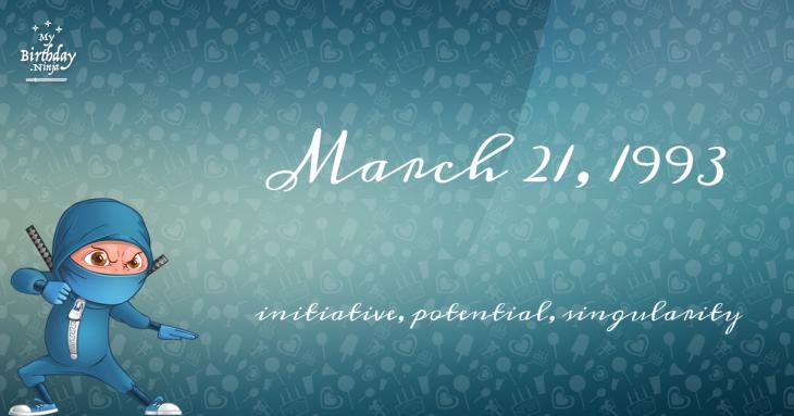 March 21, 1993 Birthday Ninja