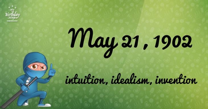May 21, 1902 Birthday Ninja