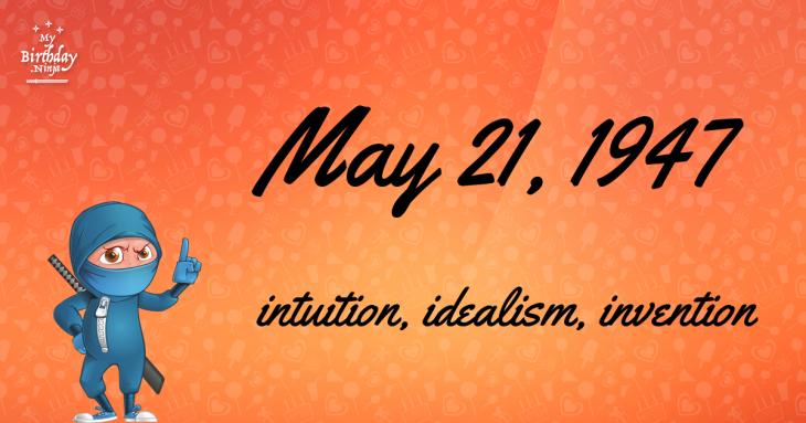 May 21, 1947 Birthday Ninja