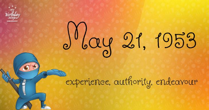 May 21, 1953 Birthday Ninja