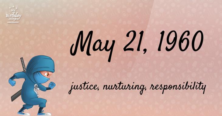 May 21, 1960 Birthday Ninja