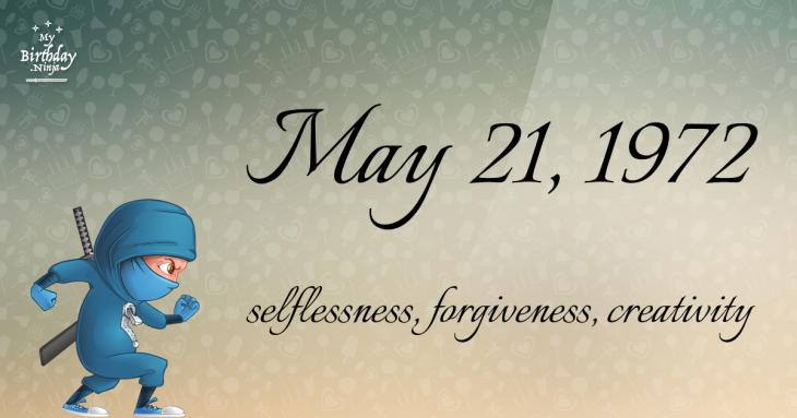 May 21, 1972 Birthday Ninja