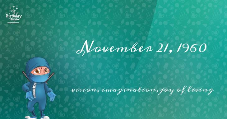 November 21, 1960 Birthday Ninja
