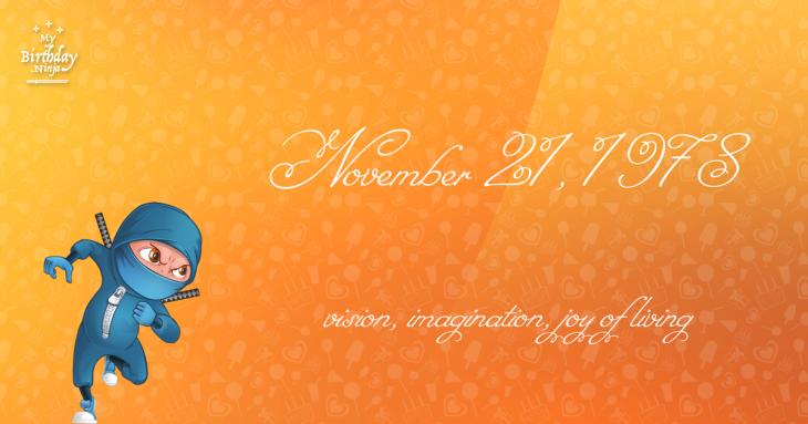 November 21, 1978 Birthday Ninja
