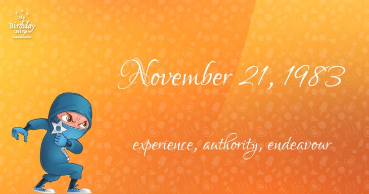November 21, 1983 Birthday Ninja