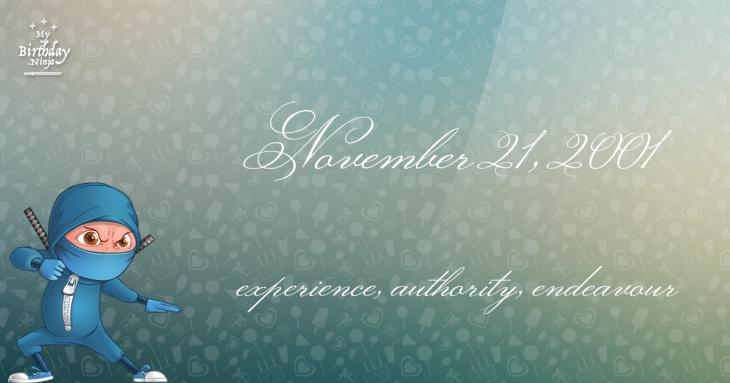 November 21, 2001 Birthday Ninja