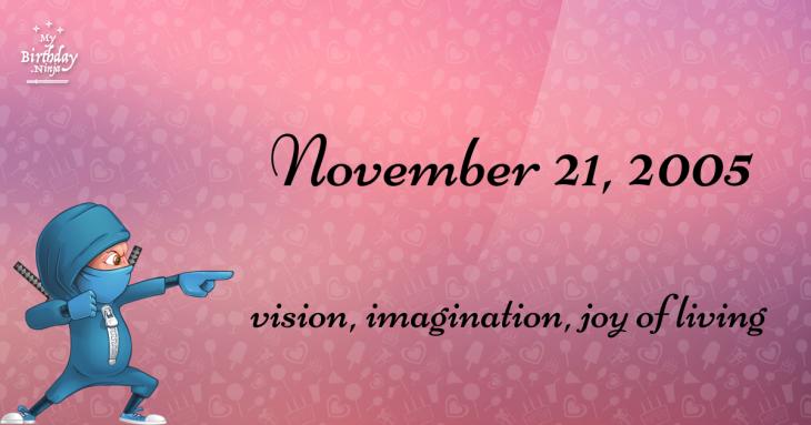 November 21, 2005 Birthday Ninja