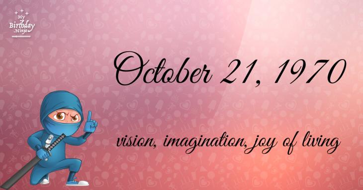 October 21, 1970 Birthday Ninja